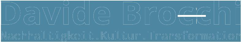 Davide Brocchi Nachhaltigkeit Logo blau