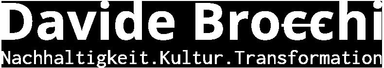 Davide Brocchi Nachhaltigkeit Logo